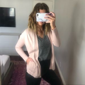 Zara Blush Pink Open Cardigan with pockets